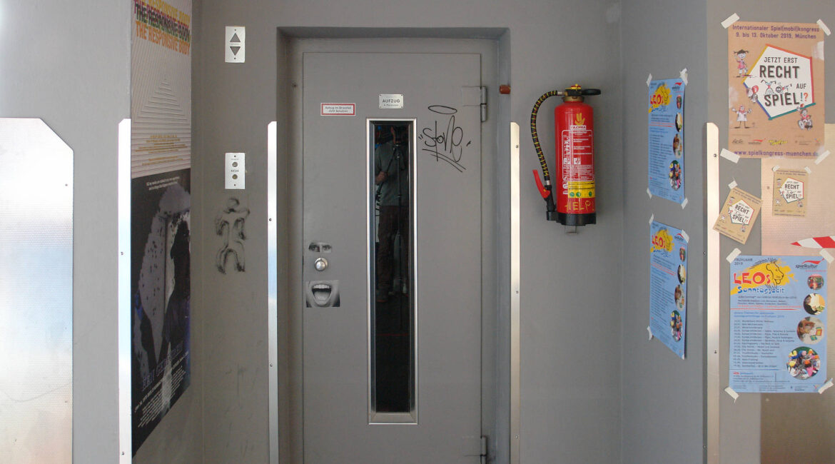 Tomaz Kramberger and Emanuel Fanslau - Homage to an Elevator - Site Specific Installation